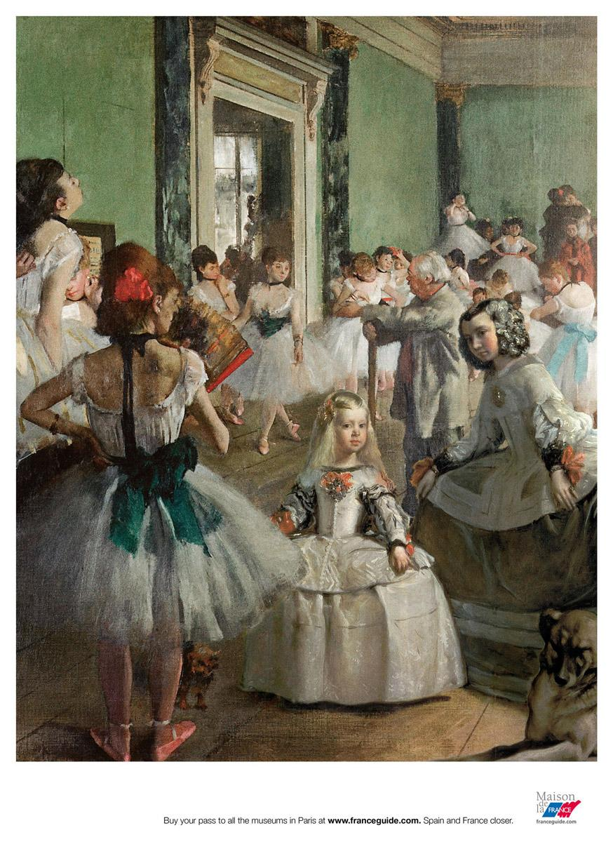 degas and velazquez Edgar degas was a french artist famous for his paintings, sculptures, prints, and  drawings  whom degas had met in 1864 (while both were copying the same  velázquez portrait in the louvre, according to a story that may be apocryphal.