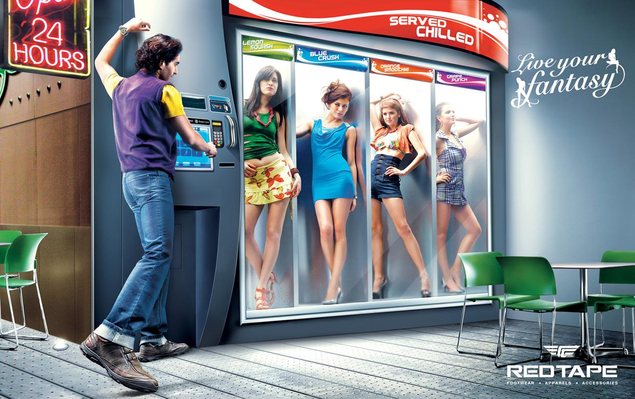 Redtape Print Ad -  Vending Machine