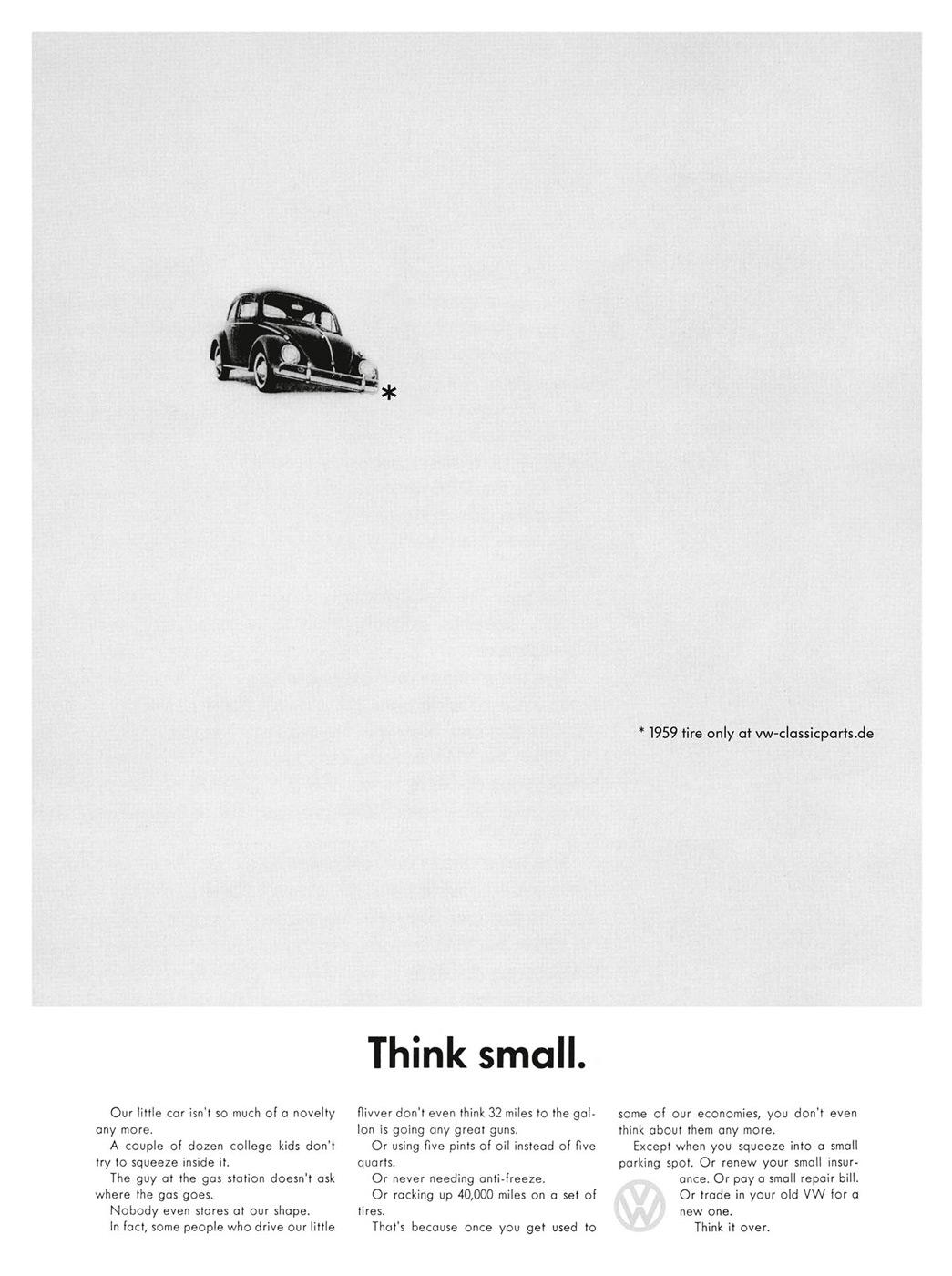Volkswagen Print Ad -  Think Small