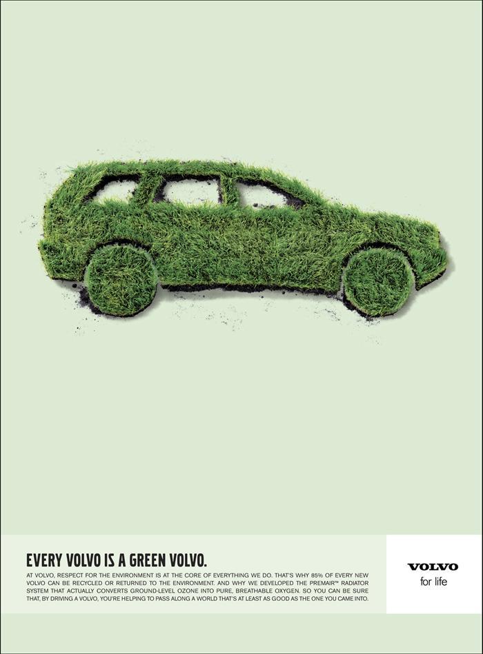 Volvo grass car
