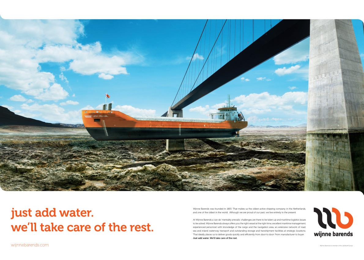 Wijnne Barends Print Ad -  Just add water, 2