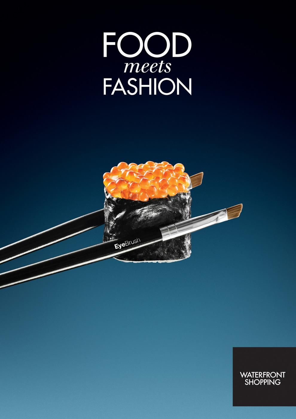 Waterfront Shopping Print Ad -  Sushi