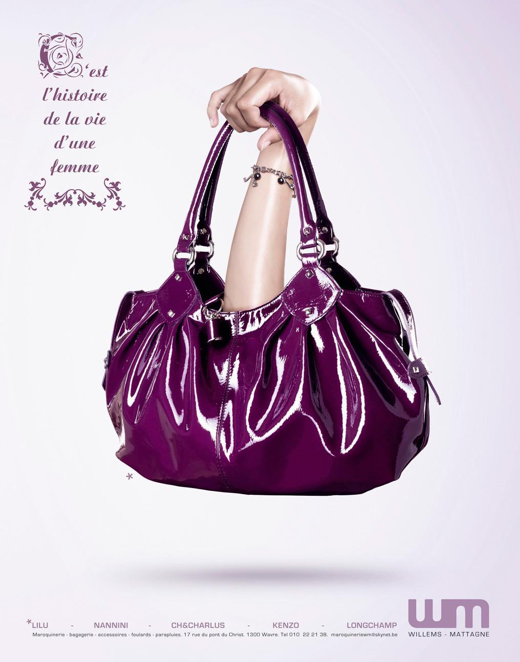 Willems Mattagne Print Ad -  Purple