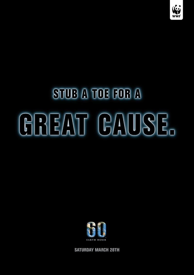 WWF Print Ad -  Stub toe