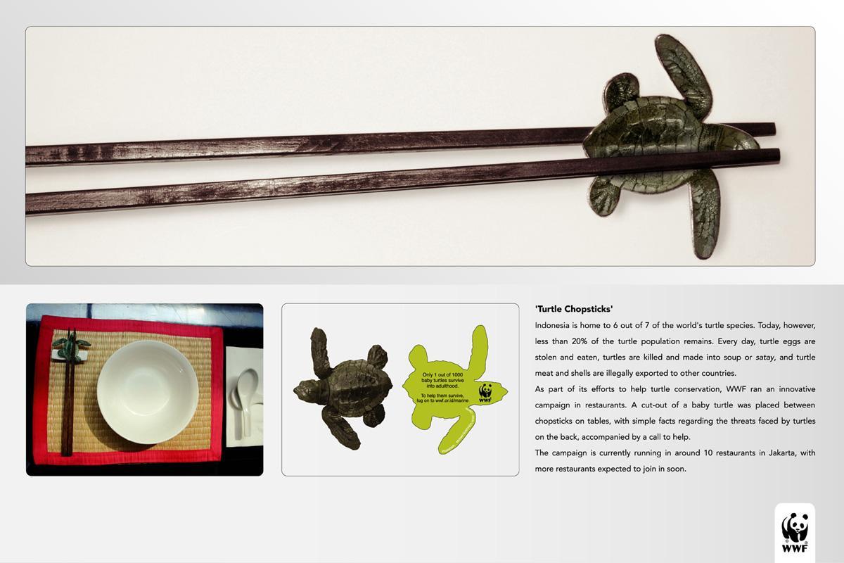 WWF Ambient Ad -  Chopsticks