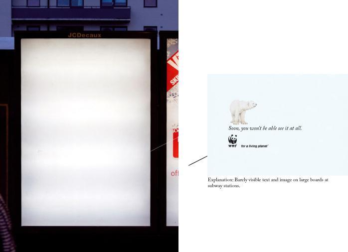 WWF Print Ad -  Polar bear