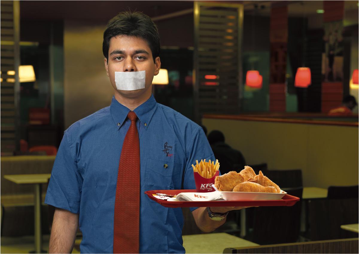 KFC Print Ad -  Waiter, 1