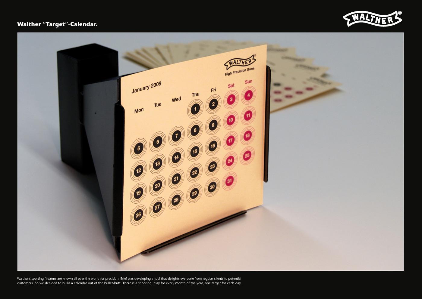 Walther Direct Ad -  Target calendar