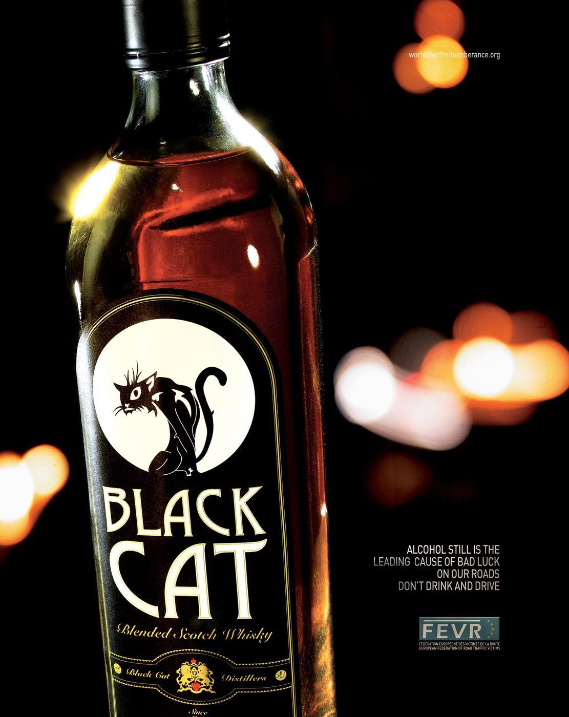 FERN Print Ad -  Black Cat Whisky