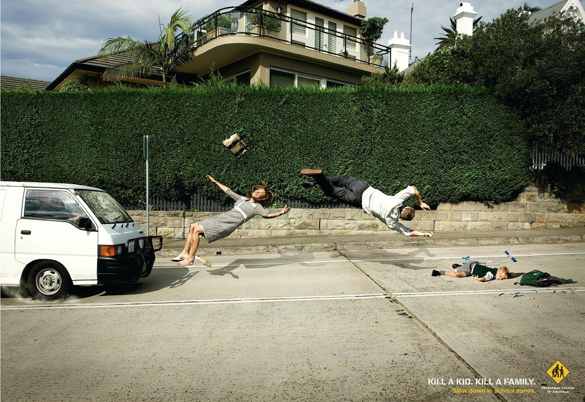 Pedestrian Council of Australia Print Ad -  Family, 3