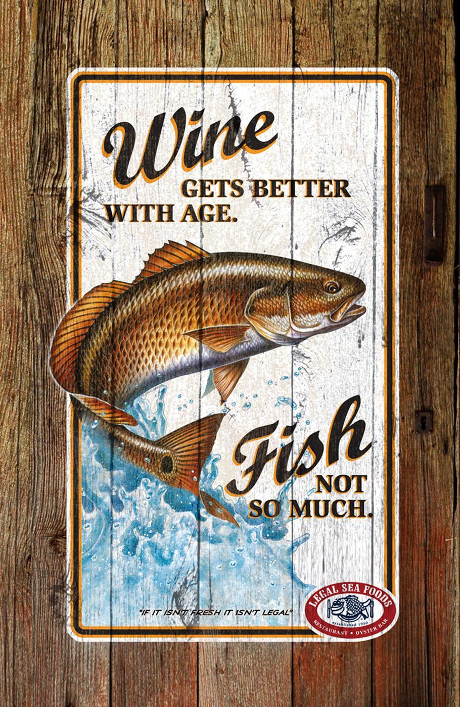 Legal Sea Foods Print Ad -  Wine