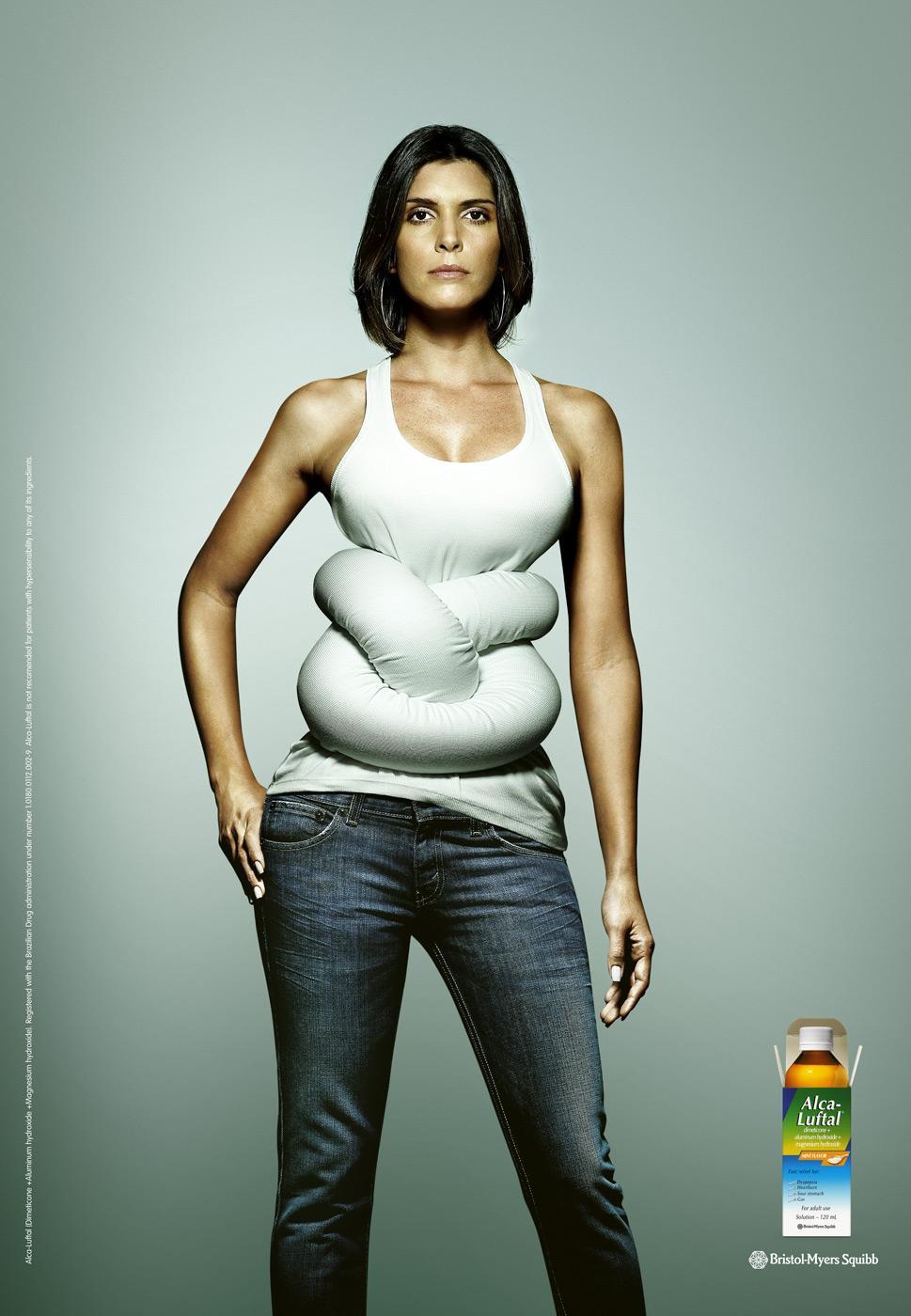 Alca-Luftal Print Ad -  Woman's Knot