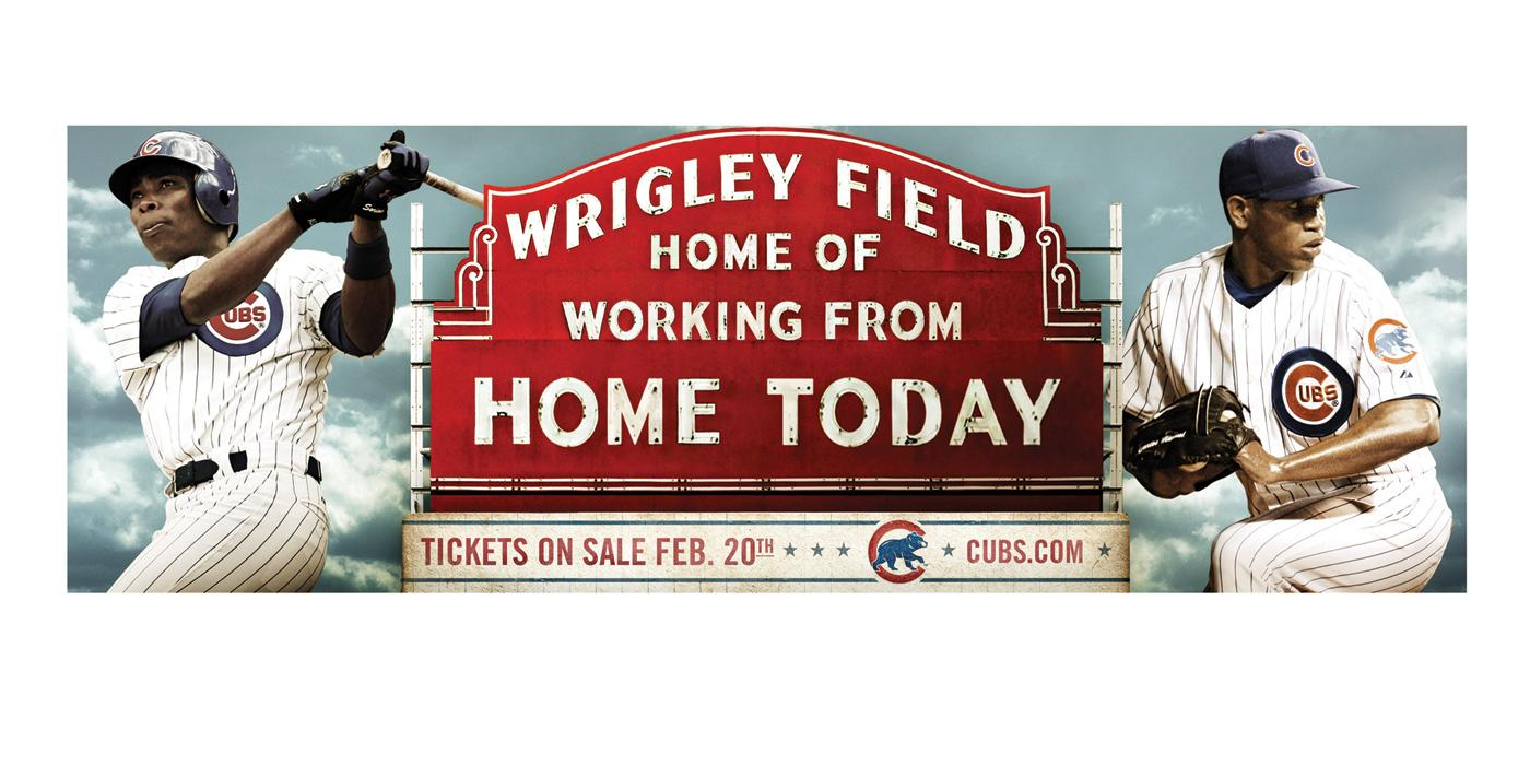 The Chicago Cubs Print Ad -  Working from home
