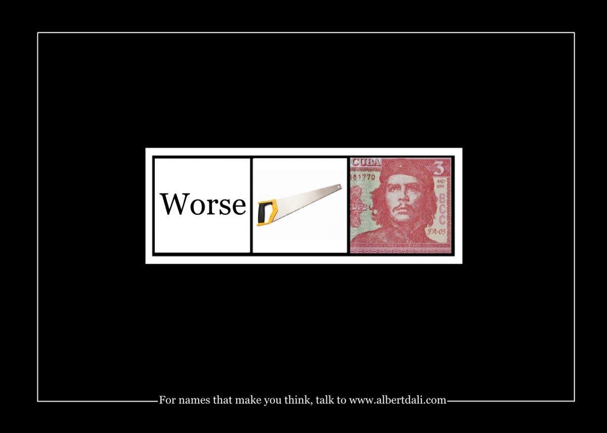 Albert Dali Print Ad -  Worse-saw-che