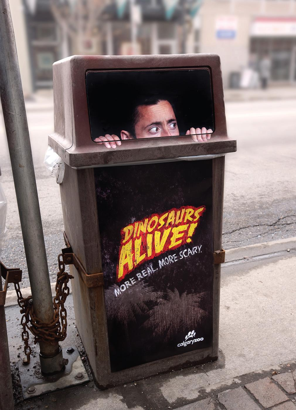 Calgary Zoo Outdoor Ad -  Trashman