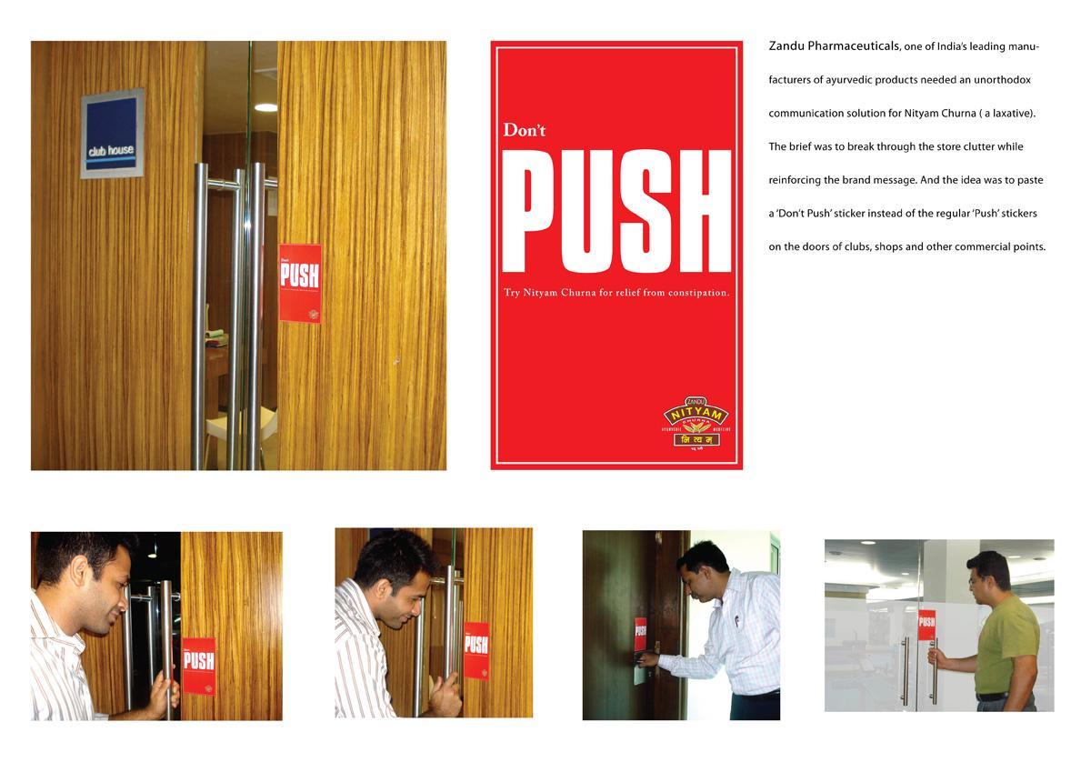 Zandu Nityam Churna Ambient Ad -  Don't push