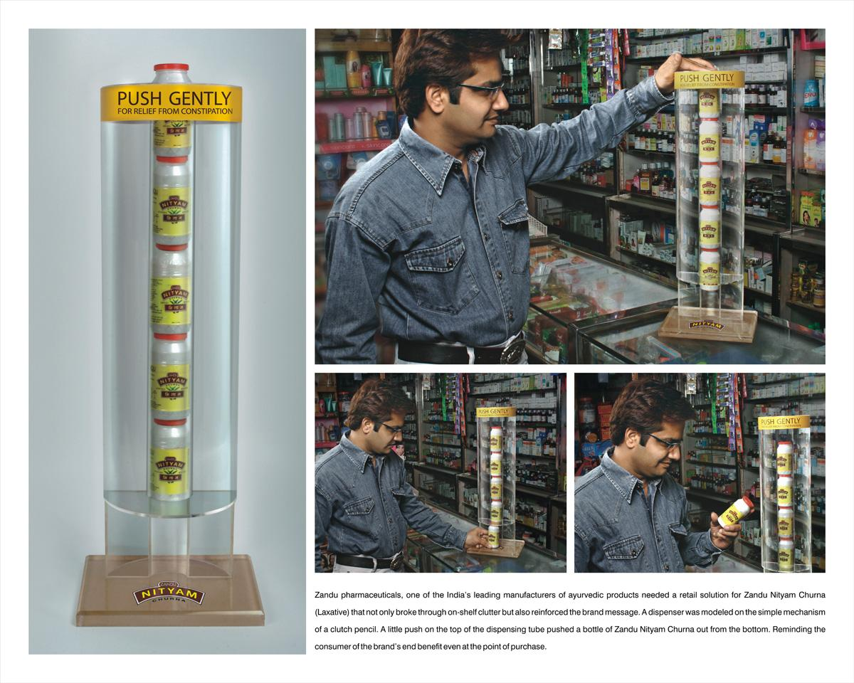 Zandu Nityam Churna Ambient Ad -  Dispenser