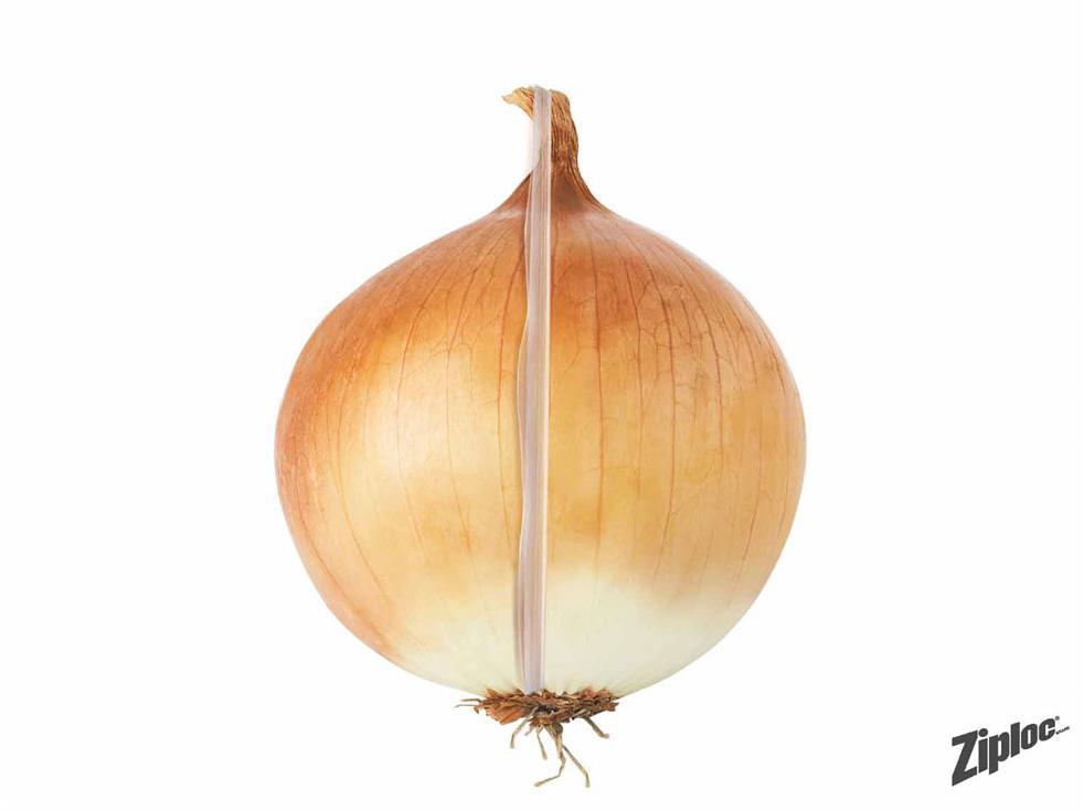 Ziploc Print Ad -  Onion