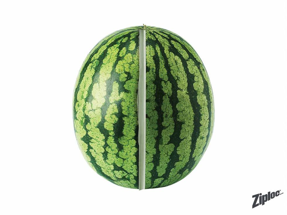 Ziploc Print Ad -  Watermelon