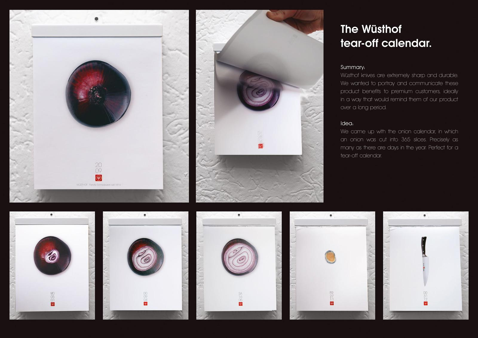Wusthof Direct Ad -  Onion calendar