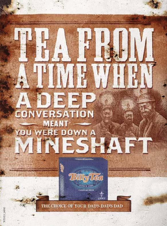 Billy Tea Print Ad -  Mineshaft
