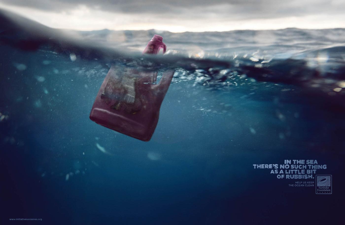 Surfrider Foundation Print Ad -  Detergent bottle