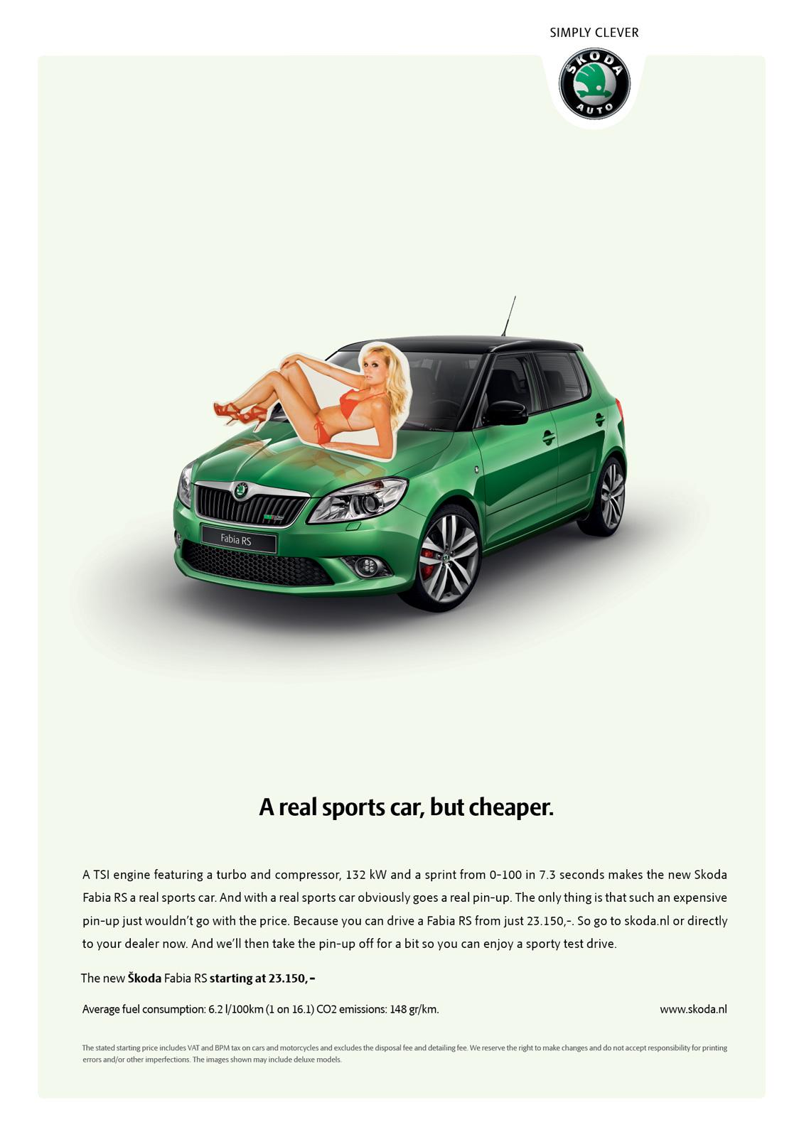 Skoda Print Ad -  A real sports car, but cheaper
