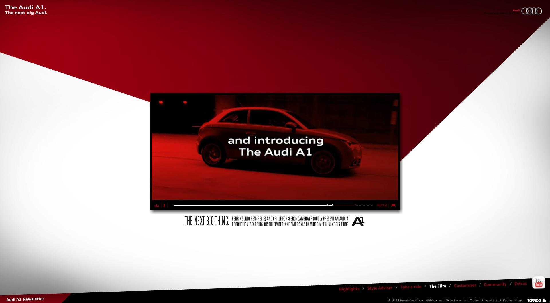 Audi Digital Ad -  The next big thing