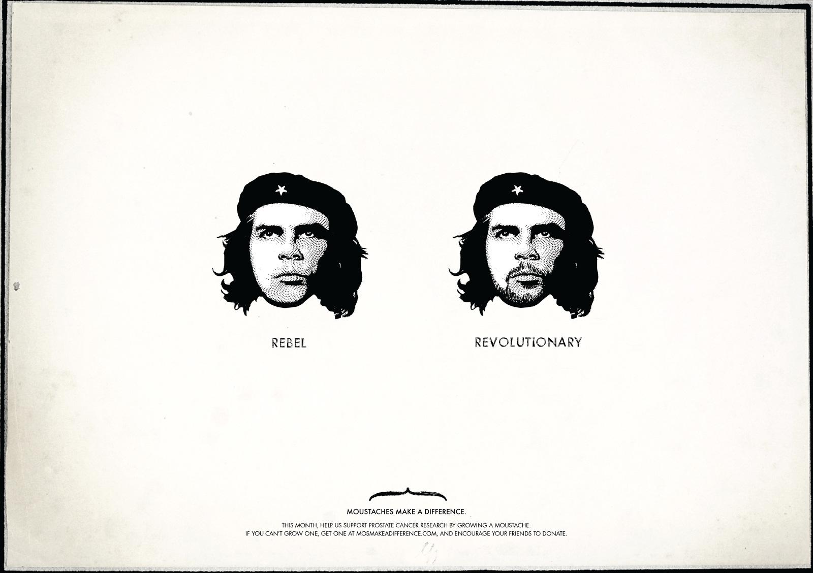 Moustaches Make A Difference Print Ad -  Che Guevara
