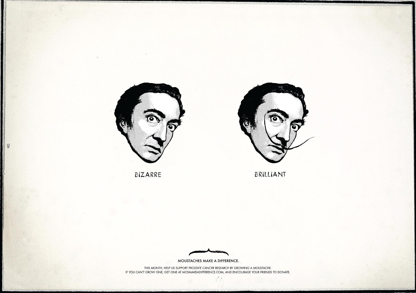 Moustaches Make A Difference Print Ad -  Dali