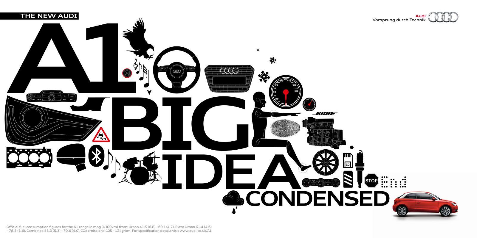 Audi Print Ad -  The big idea condensed, Master