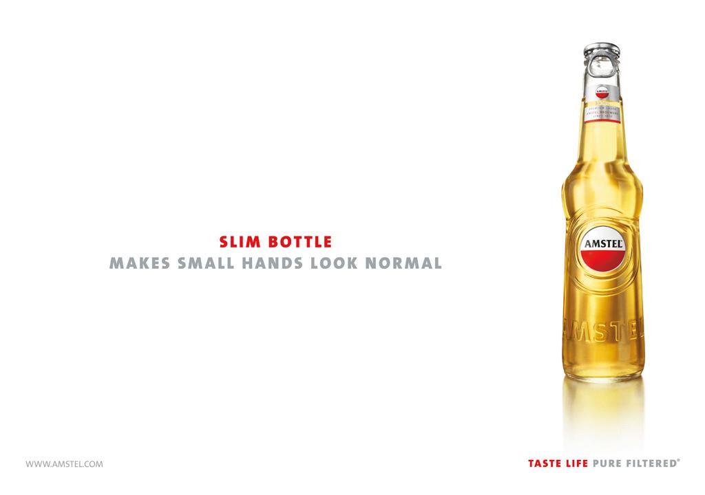 Amstel Print Ad -  Slim bottle