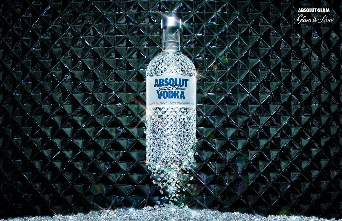 Absolut Print Ad -  Absolut Glam