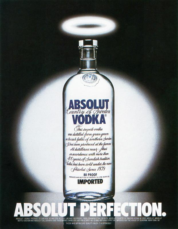 Absolut Print Ad -  Perfection