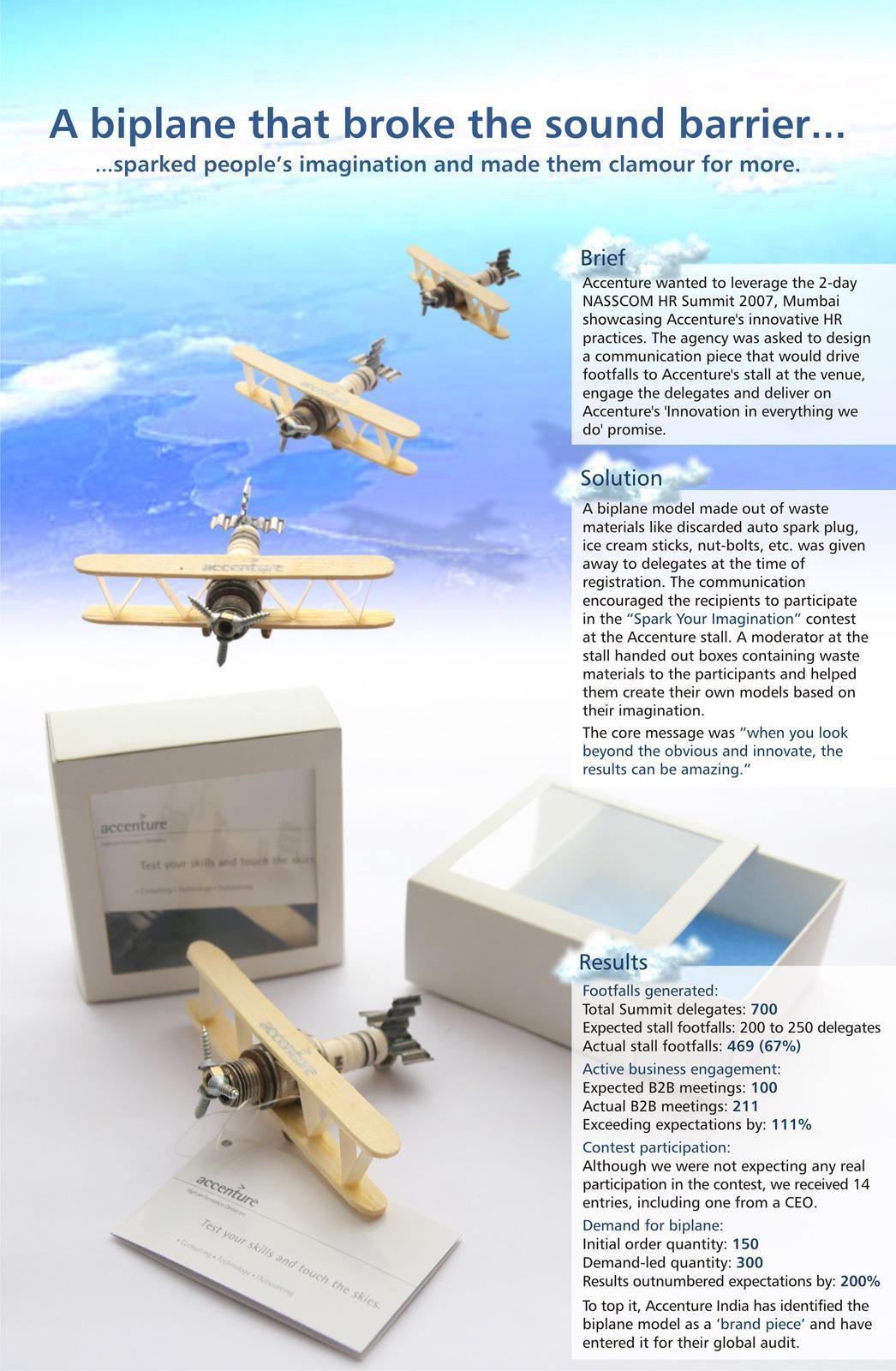 Accenture Direct Ad -  Biplane Model