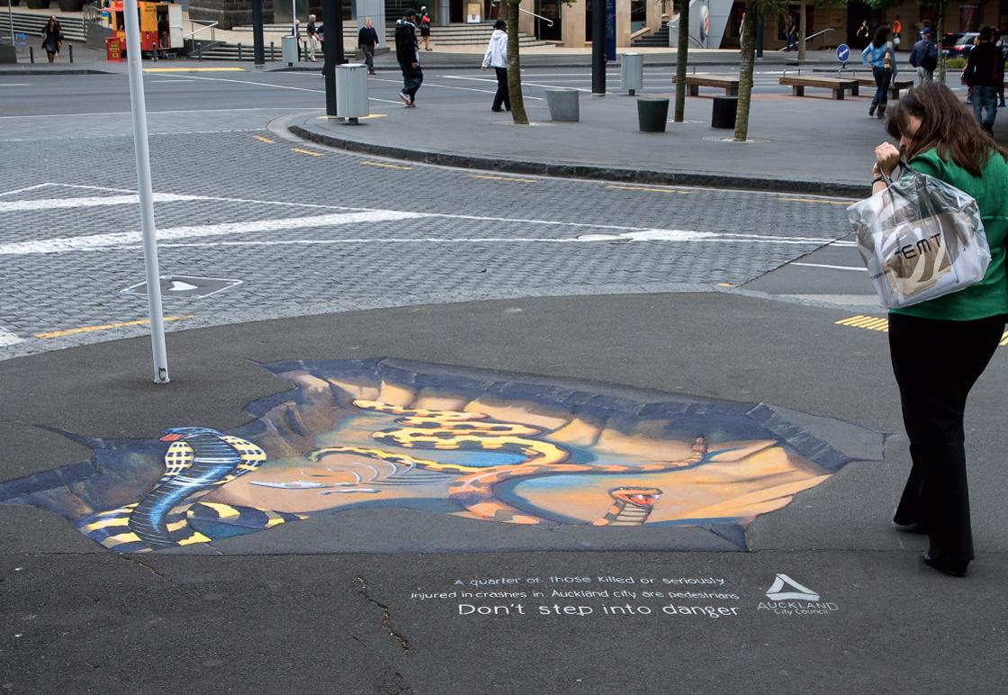 Auckland City Council Ambient Ad -  Snakes