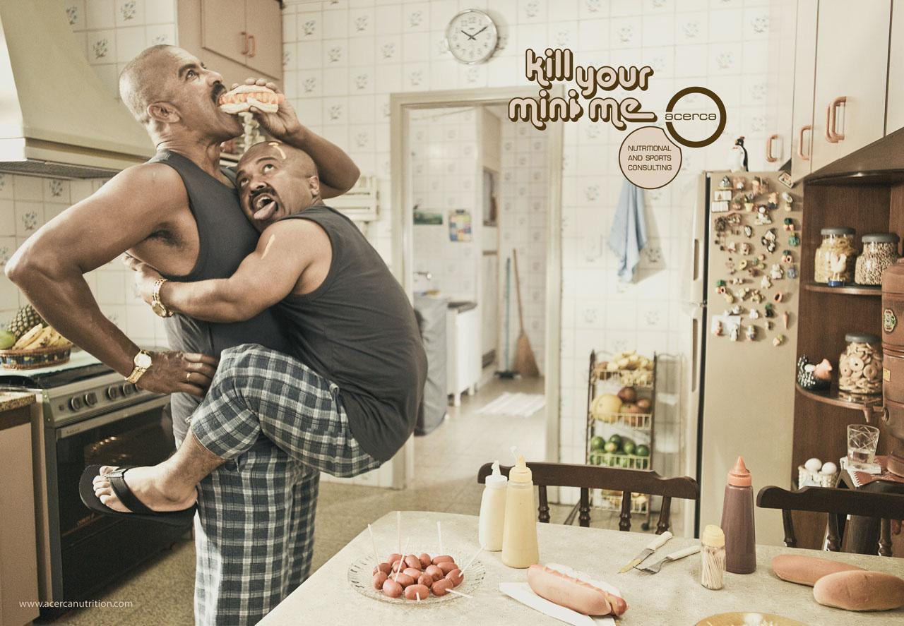 Acerca Print Ad -  Mini Me, Hungry Boy