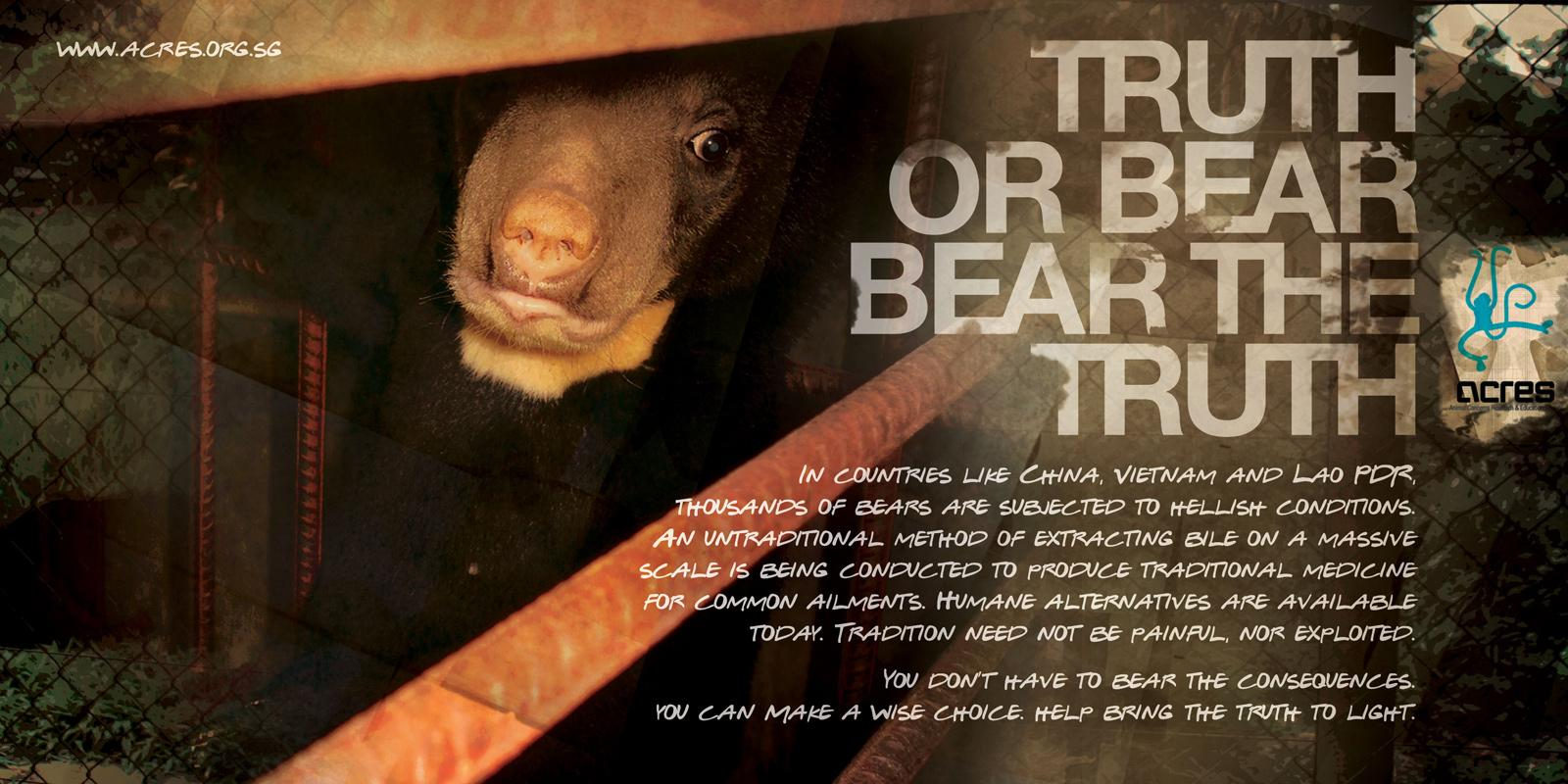 ACRES Print Ad -  Bear bile, 3