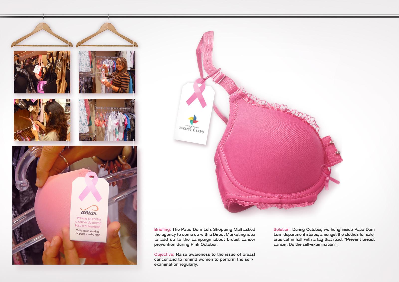 Shopping Pátio Dom Luís Ambient Ad -  Breast cancer bra