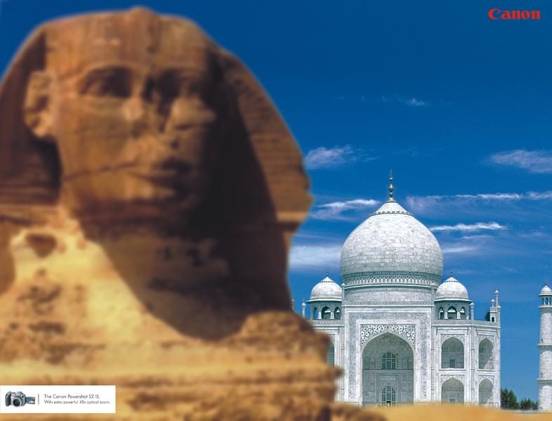 Sphinx vs Taj Mahal