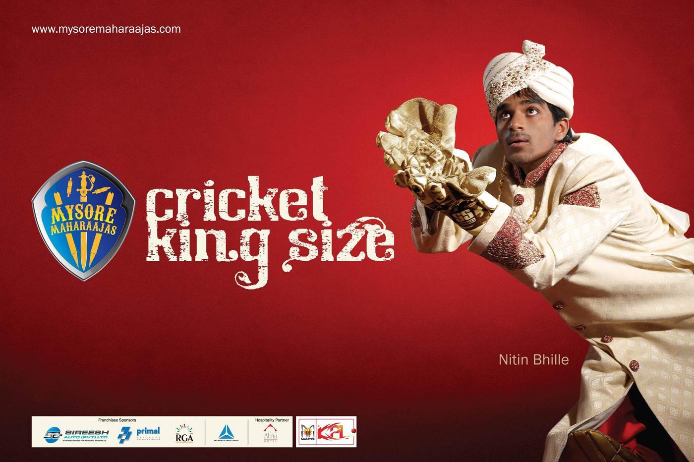 Mysore Maharaajas Print Ad -  Cricket King Size, 4