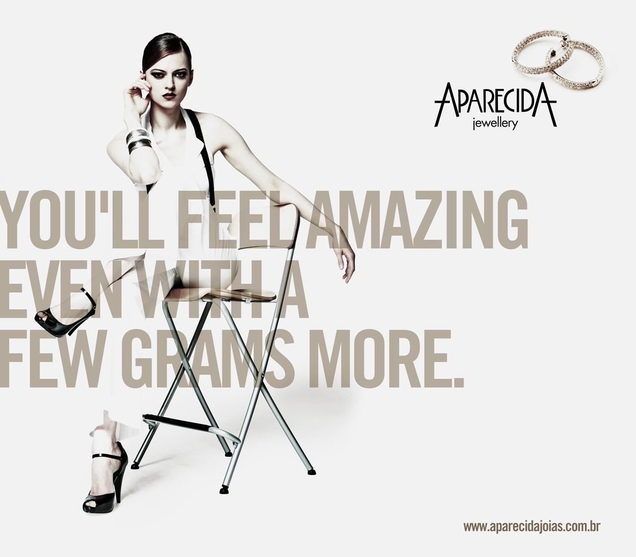 Aparecida Jewellery Print Ad -  Few grams