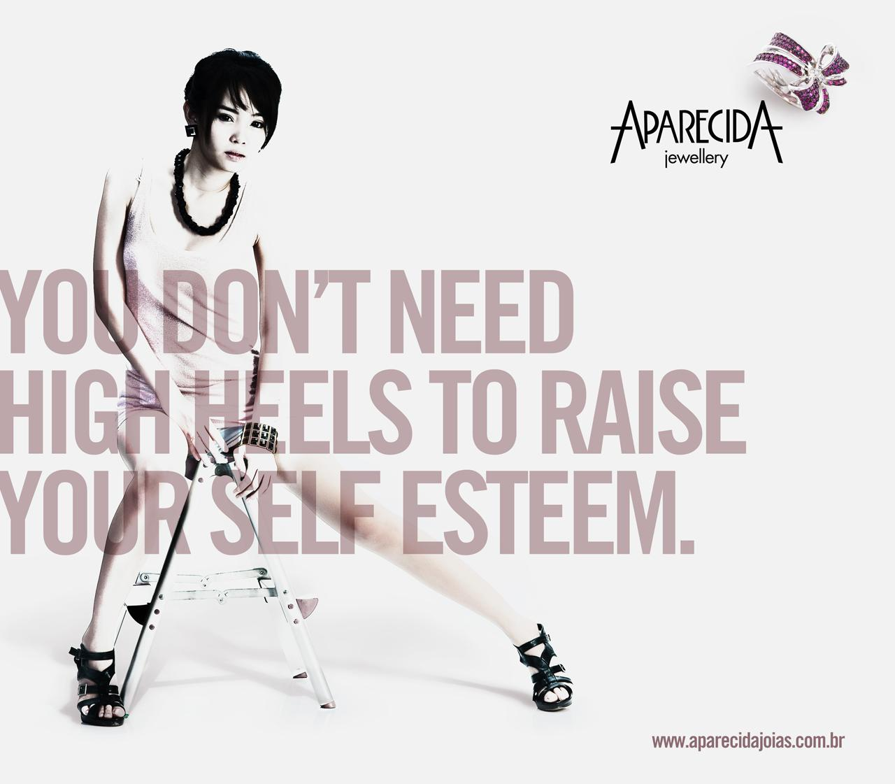 Aparecida Jewellery Print Ad -  High heels