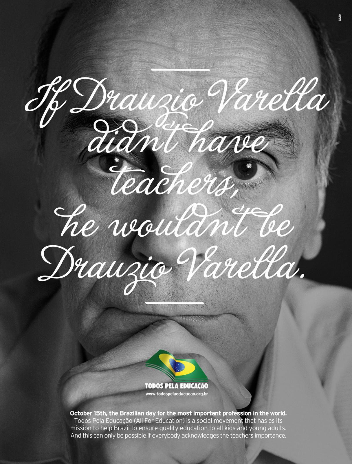 Todos pela Educação Print Ad -  Drauzio Varella