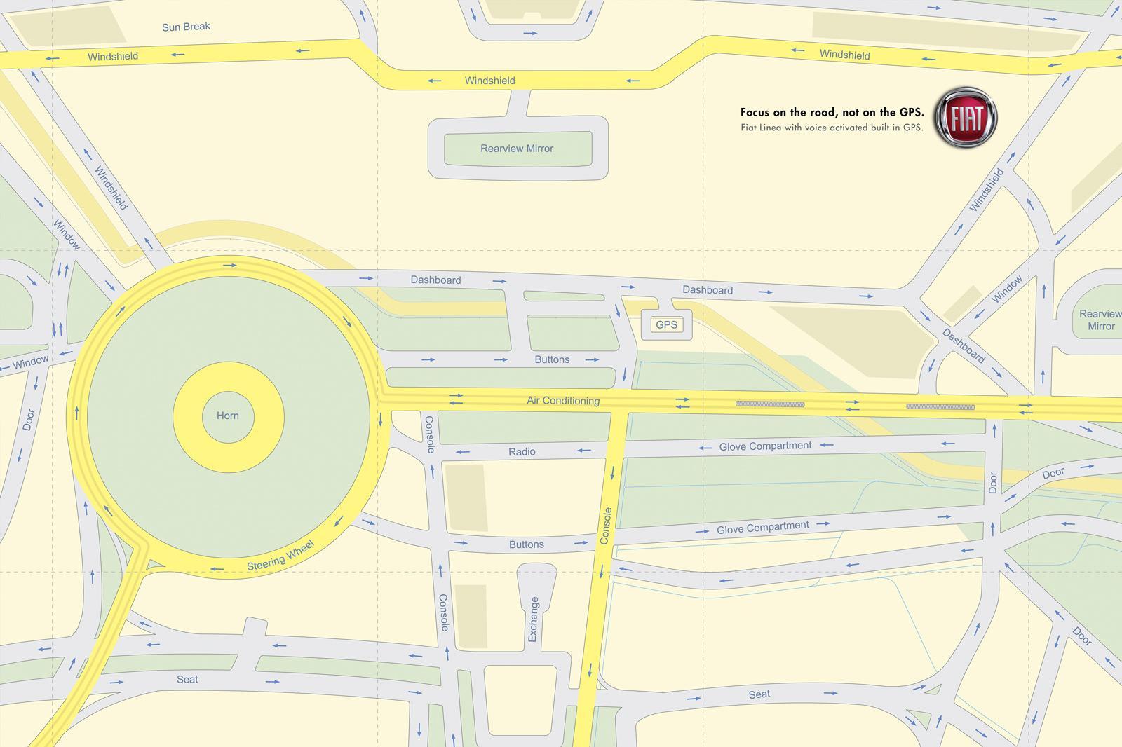 Fiat Print Ad -  GPS
