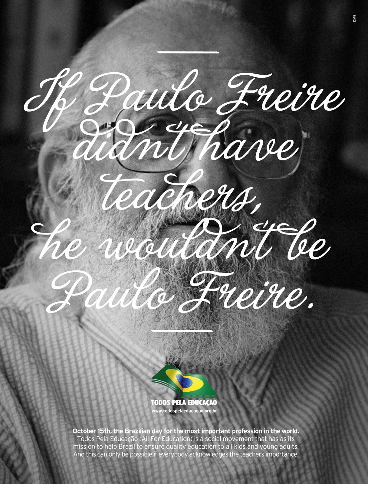 Todos pela Educação Print Ad -  Paulo Freire