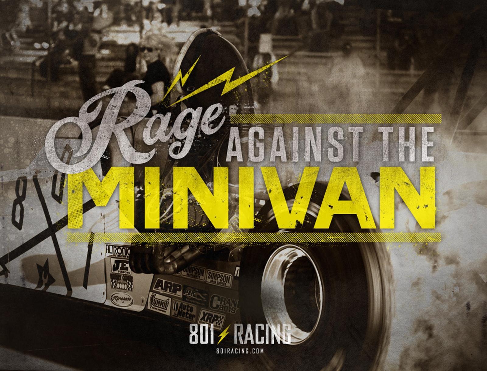 801 Racing Print Ad -  Rage