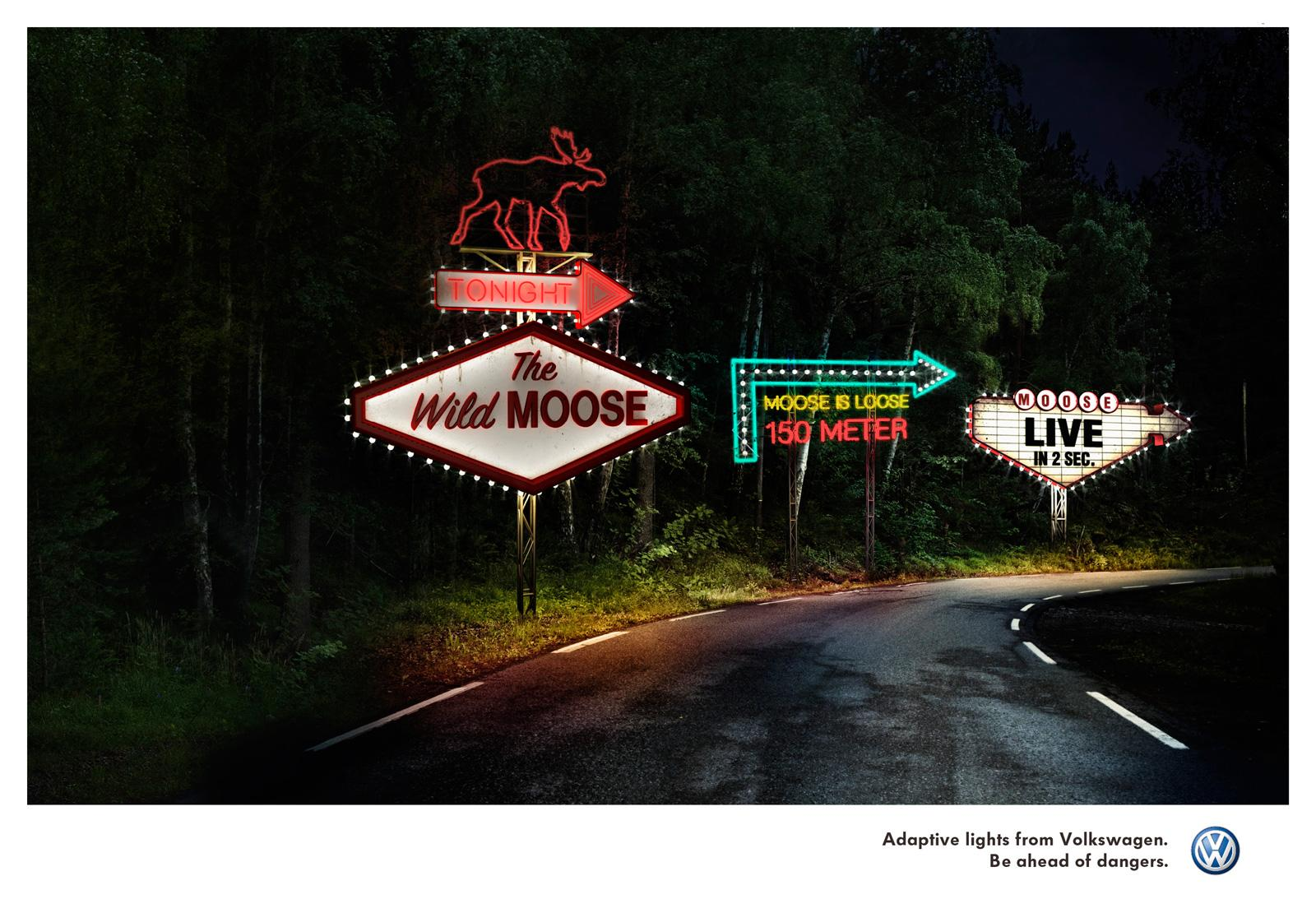 Volkswagen Print Ad -  The Moose is loose