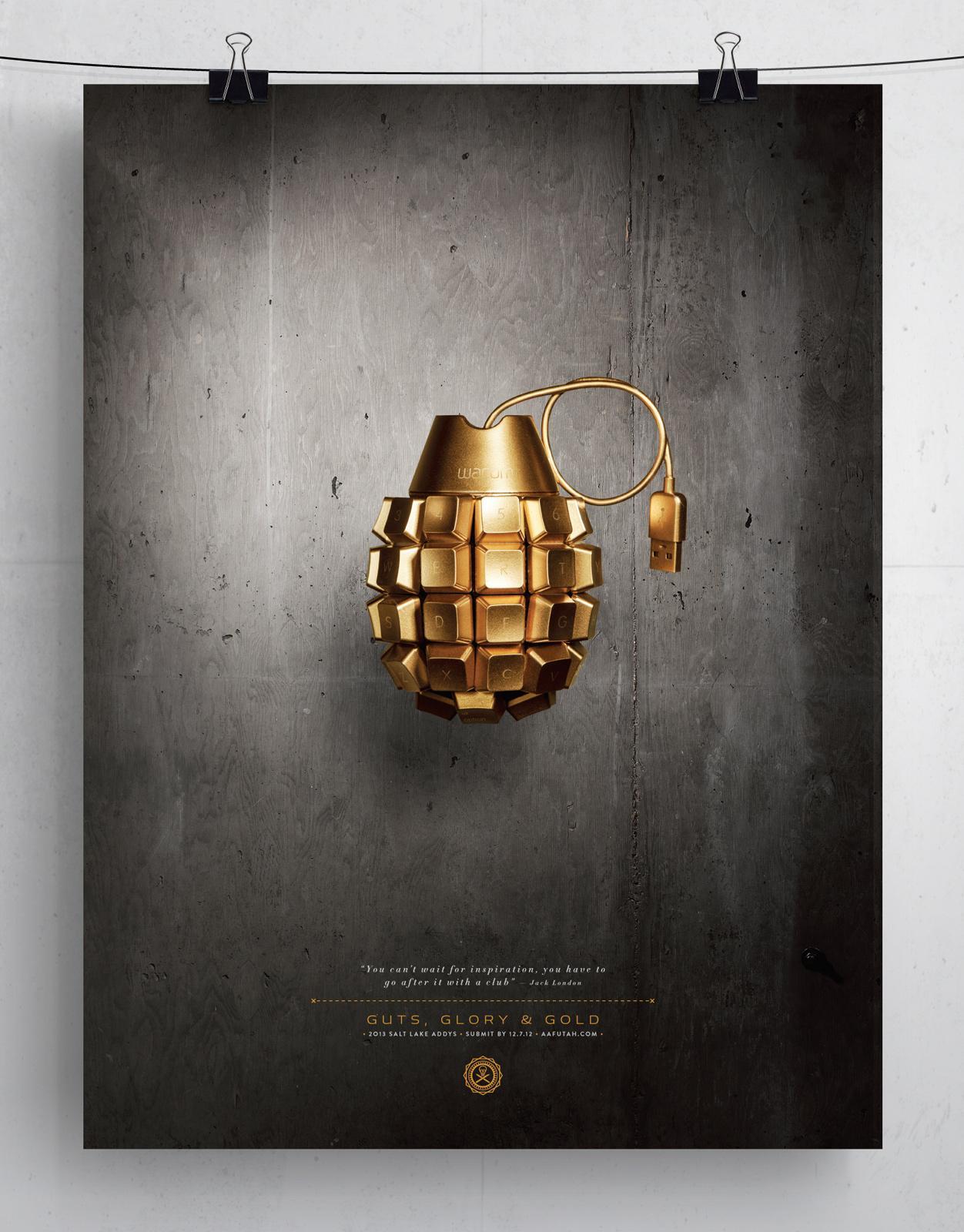 AAF ADDY Awards Outdoor Ad -  Grenade