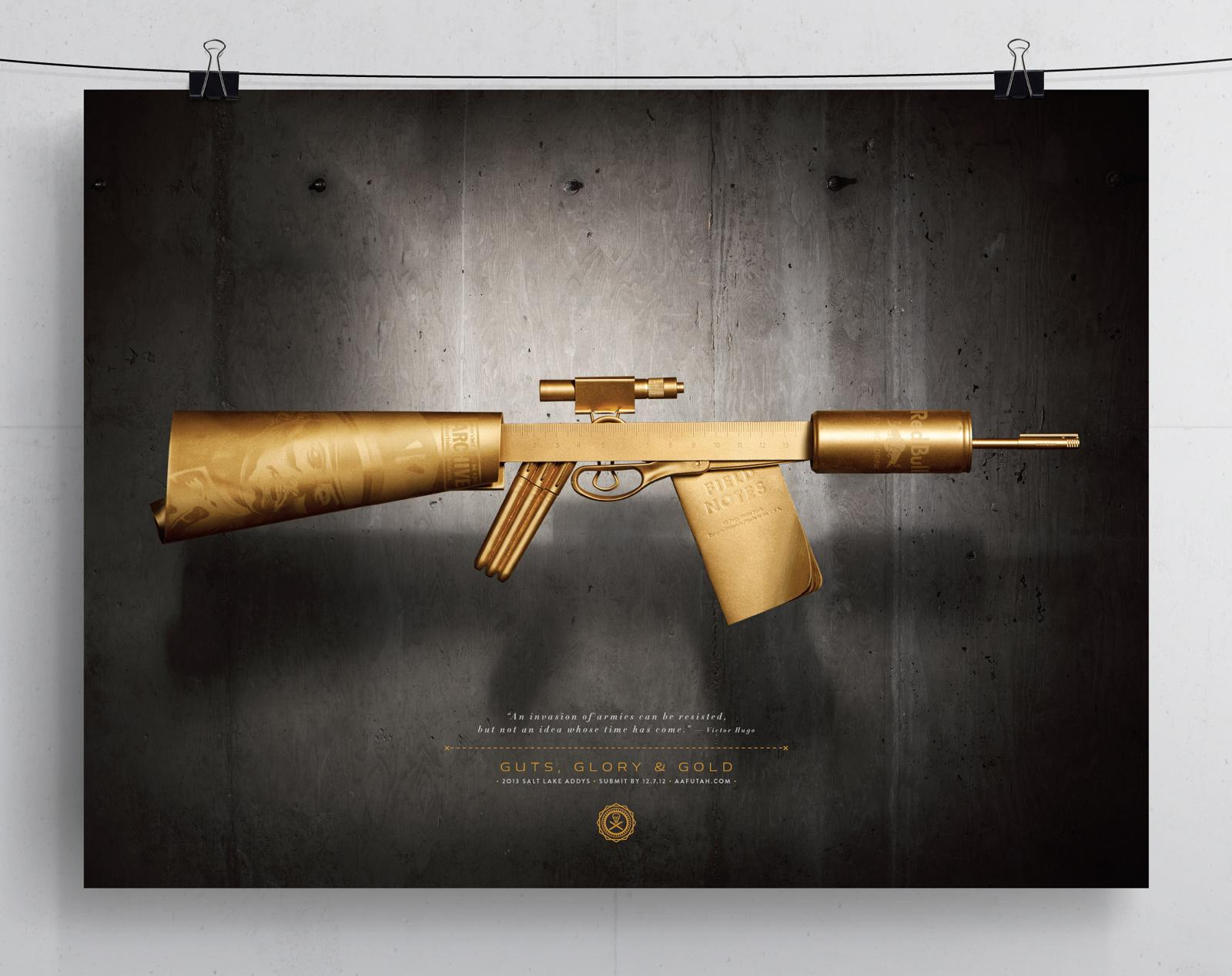 AAF ADDY Awards Outdoor Ad -  Rifle